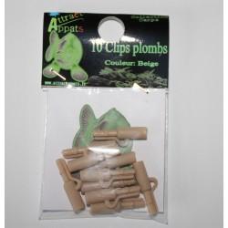 clip plomb plastique sable