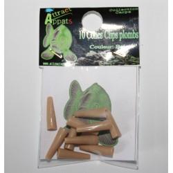 cône plastique sable