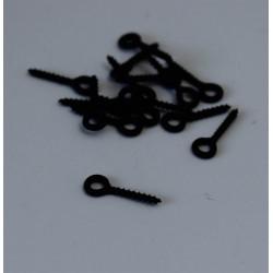Anneau rond 3.7mm noir mat