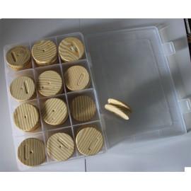 boite  bas de ligne + 24 plioirs ronds