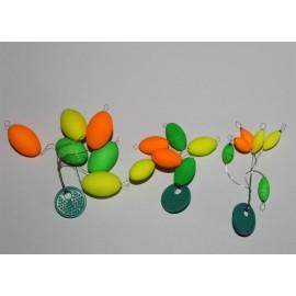 6 Perles flottantes fix 3 couleurs