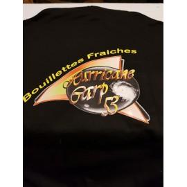Sweat noir à capuche orange hurricane carp53
