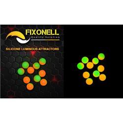 Perles fixonell vert /orange