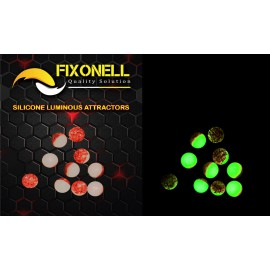 Perles fixonell rondes 8 mm vert/orange