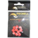 Perles fixonell rouge/blanc translucide