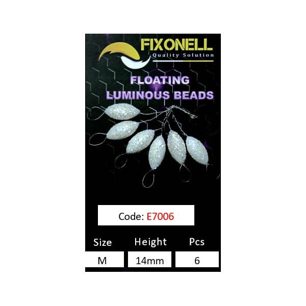Perles fixonell FLOTTANTES pailleté blanches