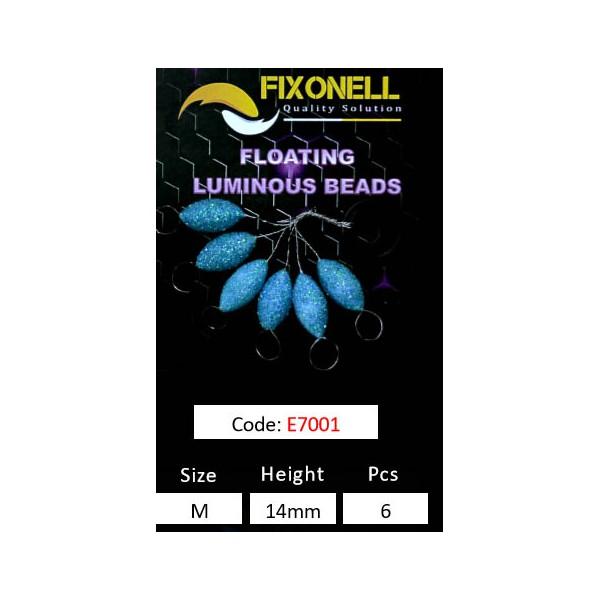 Perles fixonell FLOTTANTES pailleté bleu