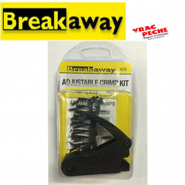 Sachet adjustable crimps breakaway