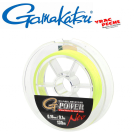 Tresse 135m G power premium braid Verte Gamakatsu