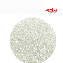 500 Perles de montage 2 mm int 0.5mm translucides