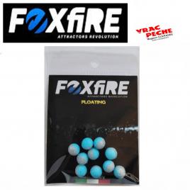 Sachet 12 perles rondes flottantes 6.5mm foxfire