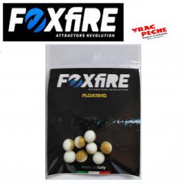 Sachet 10 perles rondes flottantes 8.5mm foxfire