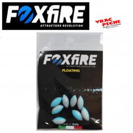 Sachet 10 perles ovales flottantes 6.5mm foxfire