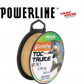 Bobine nylon TOC truite 150 m powerline
