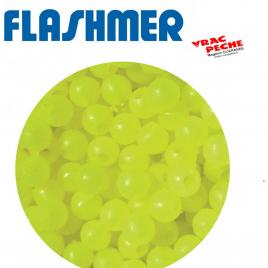 perles cristal balais fluo jaune flashmer