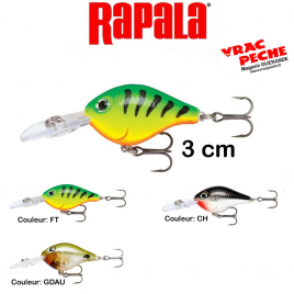 ultra light cranck 3cm RAPALA