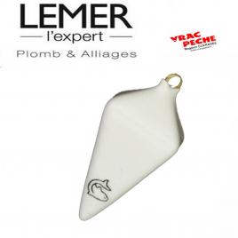 Plomb pyramide plastifié blanc lemer