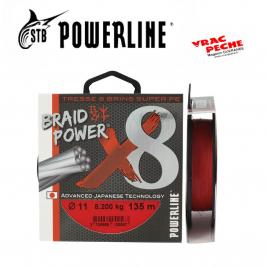 Tresse Braid power Rouge x8  135m powerline