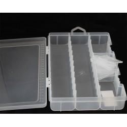 boite 9.1x6.6cm 2 compartiments