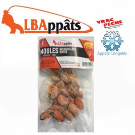 Sachet  moules décoquillées cuites congelés  LBappats