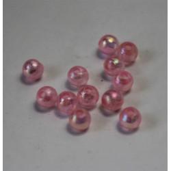 Perle plastique ronde translucide 4 mm