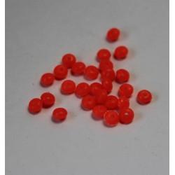 Perle plastique ronde rose irisée 6 mm