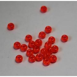 Perle plastique forme disque orange 4 x3mm