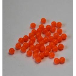 Perle plastique forme ronde rose translucide 4 mm