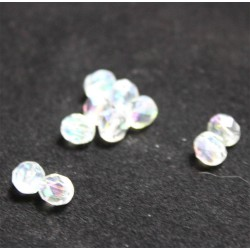 perle en verre toupie 4 mm translucide