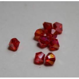 perle en verre ovale noire 4x3 mm