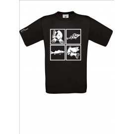 "Tee shirt Noir ""Carpe"""